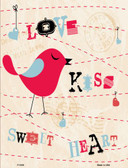 Love Kiss Red Bird Wholesale Metal Novelty Parking Sign