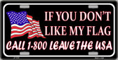1 800 Leave The USA Wholesale Metal Novelty License Plate LP-1533