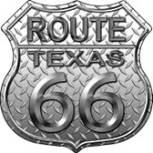 Route 66 Diamond Texas Wholesale Metal Novelty Highway Shield