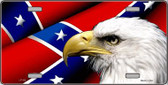 Confederate Flag Eagle Wholesale Metal Novelty License Plate LP-155