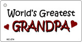 Worlds Greatest Grandpa Wholesale Novelty Key Chain