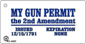 My Gun Permit Wholesale Novelty Key Chain