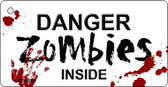 Danger Zombies Inside Wholesale Novelty Key Chain