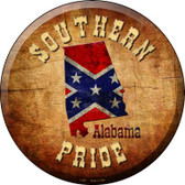 Southern Pride Alabama Wholesale Novelty Metal Circular Sign