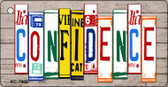 Confidence Wood License Plate Art Wholesale Novelty Key Chain