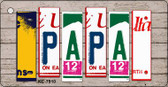 Papa Wood License Plate Art Wholesale Novelty Key Chain
