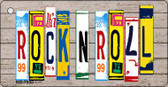 Rock N Roll Wood License Plate Art Wholesale Novelty Key Chain