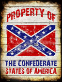 Property Of Confederate States Wholesale Metal Novelty Parking Sign