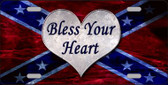 Bless Your Heart Novelty Wholesale Metal License Plate LP-7969