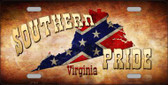 Southern Pride Virginia Novelty Wholesale Metal License Plate