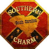 Southern Charm South Carolina Wholesale Metal Novelty Stop Sign