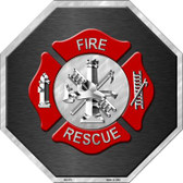 Fire Rescue Wholesale Metal Novelty Stop Sign BS-379