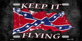 Confederate Keep It Flying Novelty Wholesale Metal License Plate
