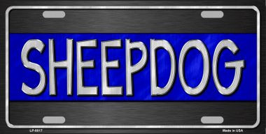 Sheepdog Thin Blue Line Novelty Wholesale Metal License Plate