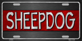 Sheepdog Thin Red Line Novelty Wholesale Metal License Plate