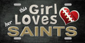 This Girl Loves Her Saints Wholesale Novelty Metal License Plate