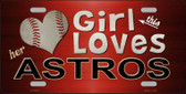 This Girl Loves Her Astros Novelty Wholesale Metal License Plate