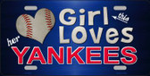 This Girl Loves Her Yankees Novelty Wholesale Metal License Plate
