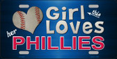 This Girl Loves Her Phillies Novelty Wholesale Metal License Plate