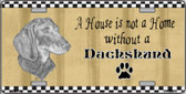 Pencil Sketch Dachshund Wholesale Metal Novelty License Plate
