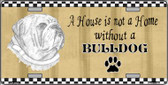 Pencil Sketch Bulldog Wholesale Metal Dog Novelty License Plate