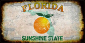 Florida Background Rusty Novelty Wholesale Metal License Plate