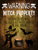 Witch Property Wholesale Metal Novelty Parking Sign