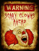Scary Clowns Wholesale Metal Novelty Parking Sign