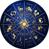 Zodiac Signs Wholesale Novelty Metal Circular Sign