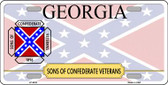 Georgia Sons Of Confederate Novelty Wholesale Metal License Plate