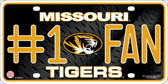 Missouri Tigers Fan Wholesale Metal Novelty License Plate