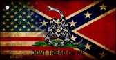American Confederate Dont Tread Wholesale Novelty Key Chain KC-8272