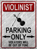 Violinist Parking Wholesale Metal Novelty Parking Sign