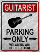 Guitarist Parking Wholesale Metal Novelty Parking Sign
