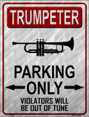 Trumpeter Parking Wholesale Metal Novelty Parking Sign