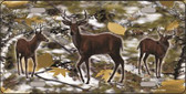 Deer On Camo Wholesale Novelty Metal License Plate