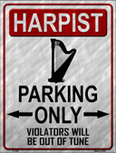 Harpist Parking Wholesale Metal Novelty Parking Sign