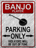 Banjo Player Parking Wholesale Metal Novelty Parking Sign