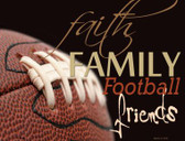Football Family Wholesale Metal Novelty Parking Sign