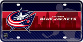 Columbus Blue Jackets Wholesale Metal Novelty License Plate LP-5556