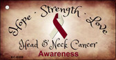 Head and Neck Cancer Ribbon Wholesale Novelty Key Chain