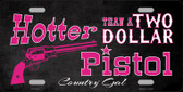 Two Dollar Pistol Novelty Wholesale Metal License Plate LP-8331
