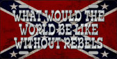 What Would The World Wholesale Metal Novelty License Plate