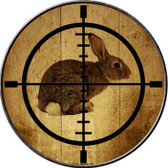 Rabbit Hunter Wholesale Novelty Metal Circular Sign