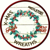 Wreaths Wholesale Novelty Metal Circular Sign