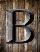 Letter B Wholesale Novelty Metal Parking Sign