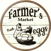 Farmers Market Eggs Wholesale Novelty Metal Circular Sign