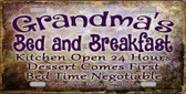 Grandmas Bed & Breakfast Wholesale Metal Novelty License Plate