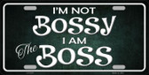 I'm Not Bossy Wholesale Metal Novelty License Plate