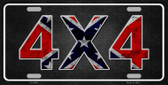 4x4 Confederate Wholesale Metal Novelty License Plate